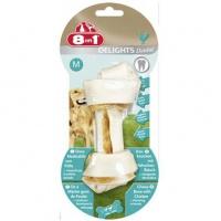 8in1 dental delights m косточка с куриным мясом для средних и крупных собак с минералами