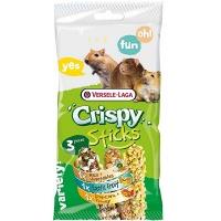 Versele-Laga палочки для всеядных грызунов crispy микс рис/овощи, фрукты, попкорн/мед