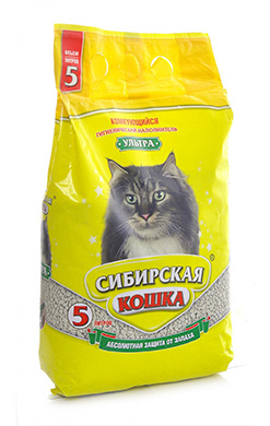 Сибирская кошка Наполнитель Ультра Комкующийся