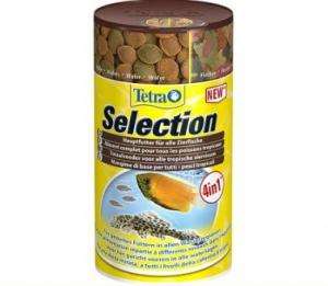 """Tetra selection корм для всех видов рыб """"4 вида"""" хлопья/чипсы/гранулы"""