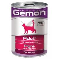 Gemon cat консервы для кошек кусочки говядины