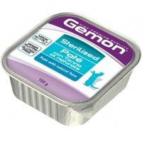 Gemon cat sterilized консервы для стерилизованных кошек паштет тунец