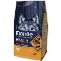 Monge BWild dog osrich корм для взрослых собак всех пород с мясом страуса