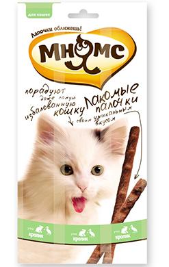 Мнямс лакомые палочки 13,5 см для кошек с уткой и кроликом