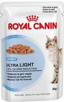 Royal Canin Ultra Light (Мясные кусочки в соусе для кошек, склонных к полноте)