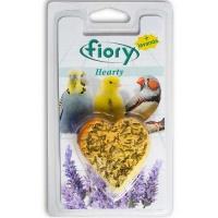 Fiory био-камень для птиц hearty с лавандой в форме сердца