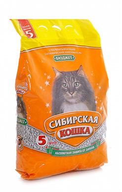 Сибирская кошка Наполнитель Бюджет Впитывающий материал