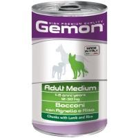 Gemon dog medium консервы для собак средних пород кусочки ягненка с рисом