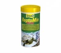 Tetra reptomin корм в палочках для водных черепах