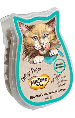 Мнямс дропсы с кошечьей мятой для кошек CatnipDrops