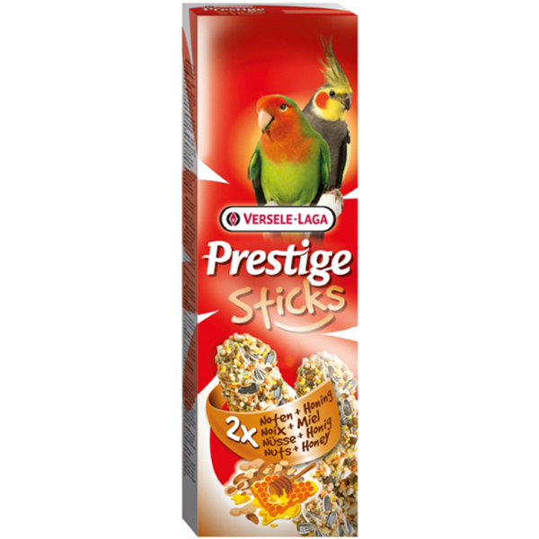 Versele-Laga палочки для средних попугаев prestige с орехами и медом