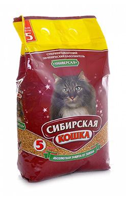 Сибирская кошка Наполнитель Универсал Впитывающий