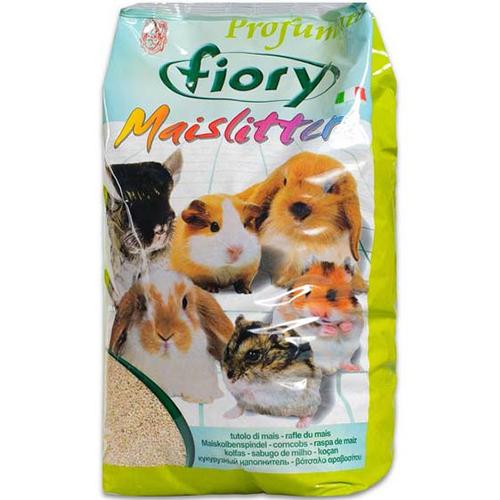 Fiory наполнитель кукурузный для грызунов maislitter profumato лимон