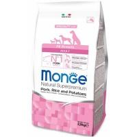Monge dog speciality корм для собак всех пород свинина с рисом и картофелем