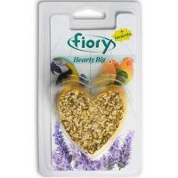 Fiory био-камень для птиц hearty big с лавандой в форме сердца